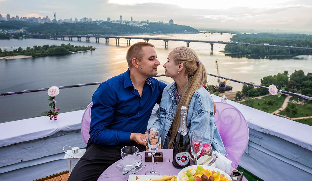 Свидание на крыше, Киев, Сервис романтики Альтечо, Набережная