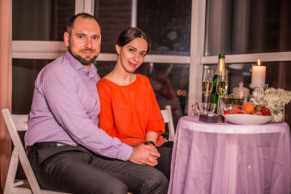 Романтический ужин при свечах, Киев, сервис романтики Альтечо