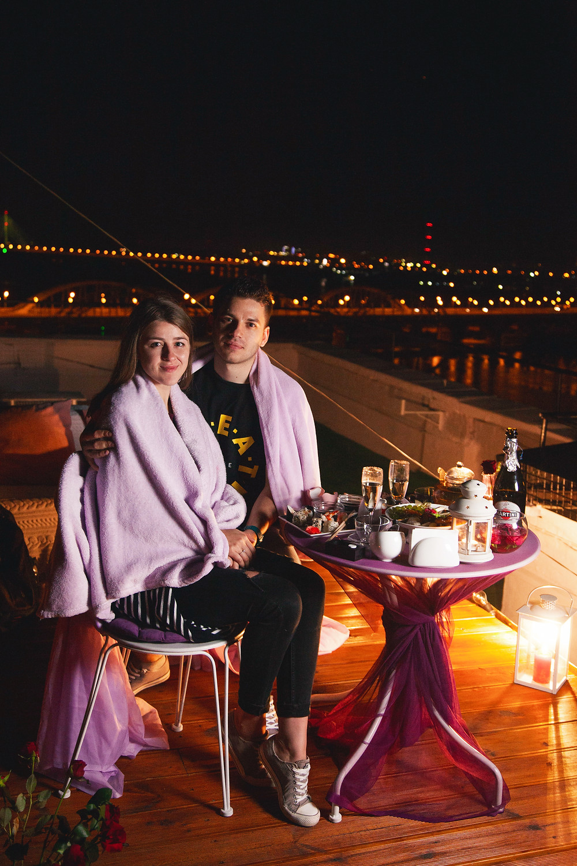 Ужин в необычном месте, сервис романтики Киев