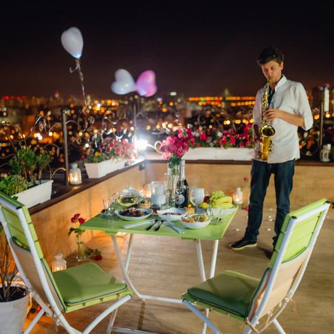 Романтический ужин на террасе, Альтечо
