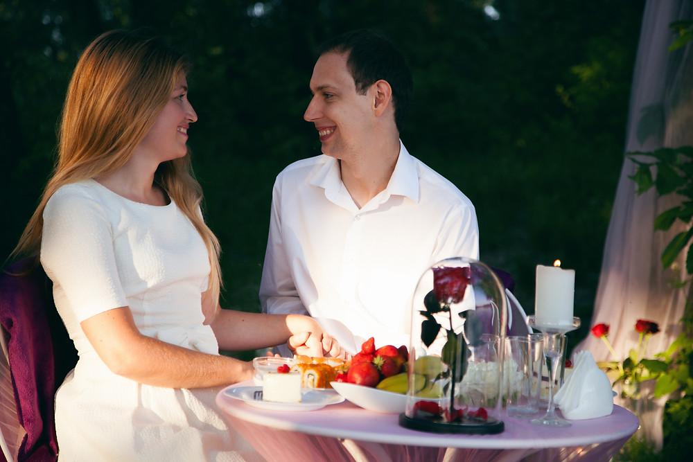 Романтическое предложение руки и сердца, Киев, сервис романтики Альтечо