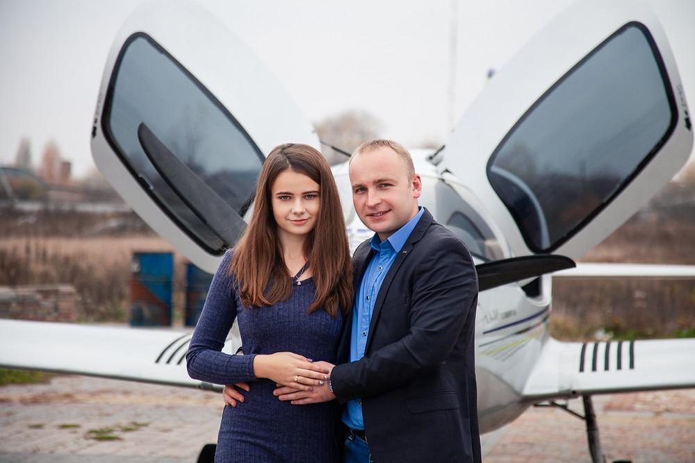 Предложение руки и сердца в небе, сервис романтики Альтечо, Киев