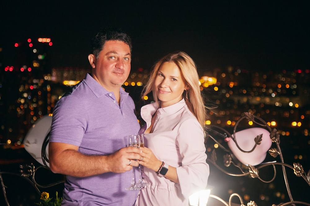 Романтический вечер на террасе, Киев, сервис романтики Альтечо