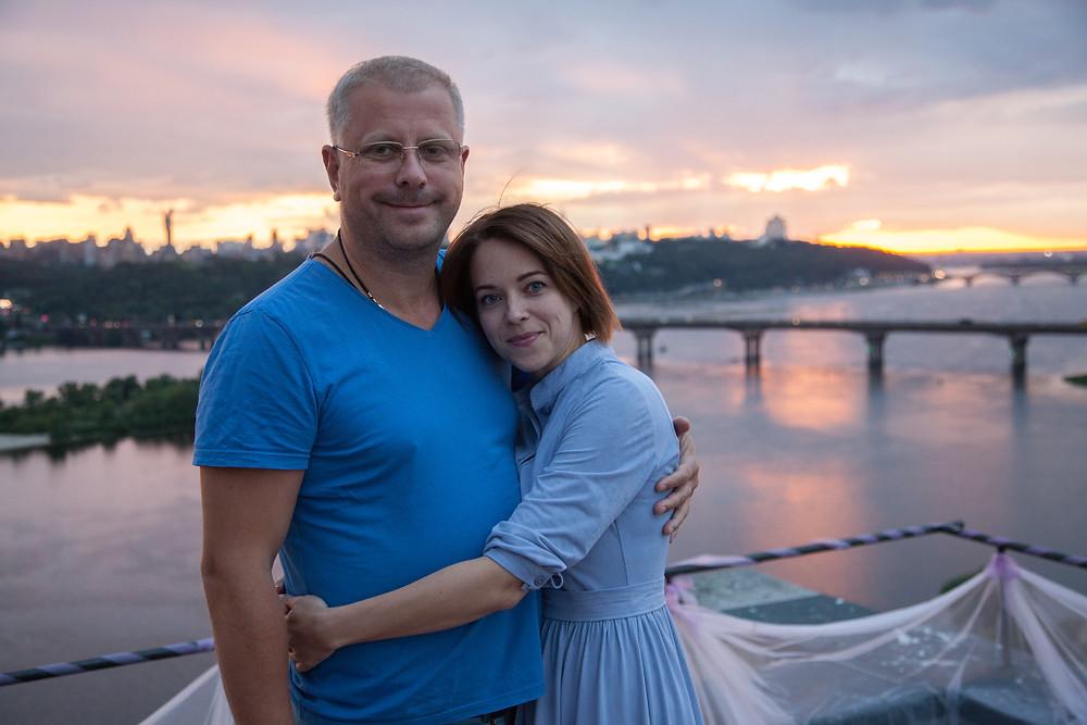 Ресторан для двоих на крыше, Киев, сервис романтики Альтечо
