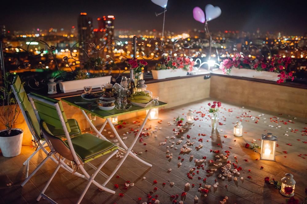 Кафе на крыше, Киев, сервис романтики Альтечо