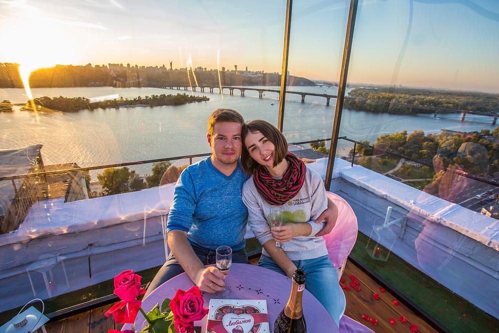 Ужин при свечах, Киев, сервис романтики Альтечо