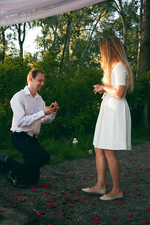 Предложение руки и сердца, Киев, сервис романтики Альтечо