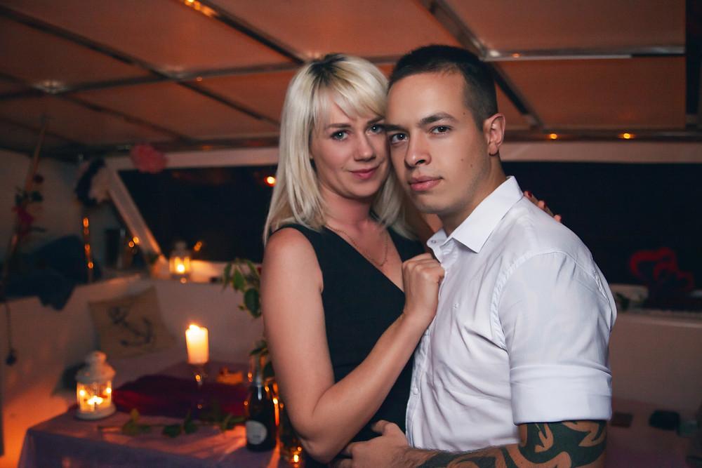 Романтический вечер на яхте, Киев, сервис романтики Альтечо