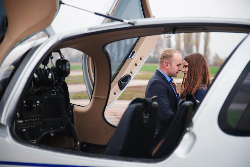 Предложение руки и сердца на самолёте, Киев