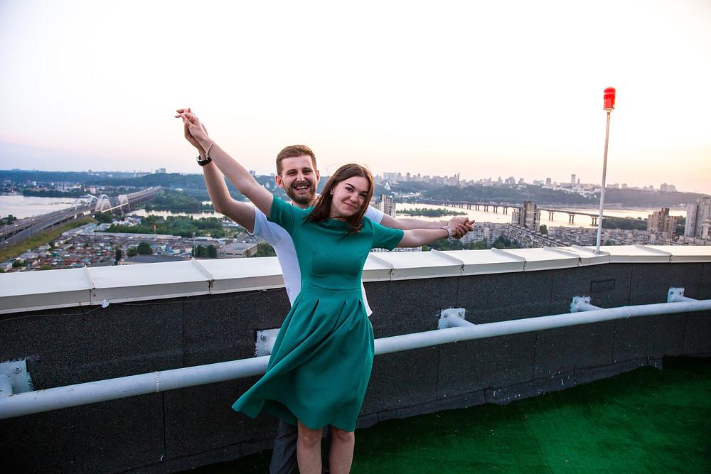 Романтика на крыше, Киев, сервис романтики Альтечо