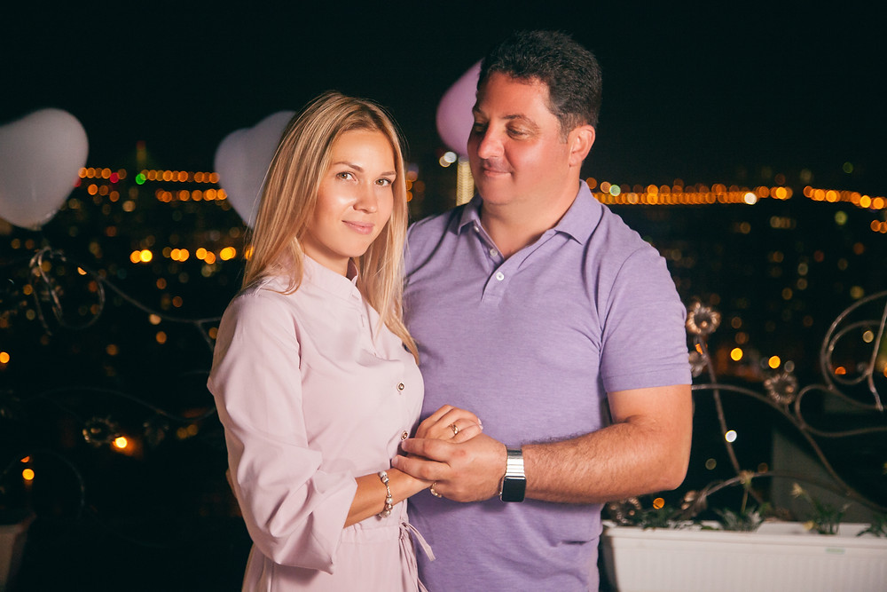Романтическое свидание на террасе