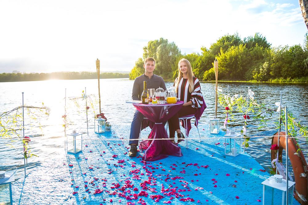Романтика в окружении воды, Киев, Сервис романтики Альтечо