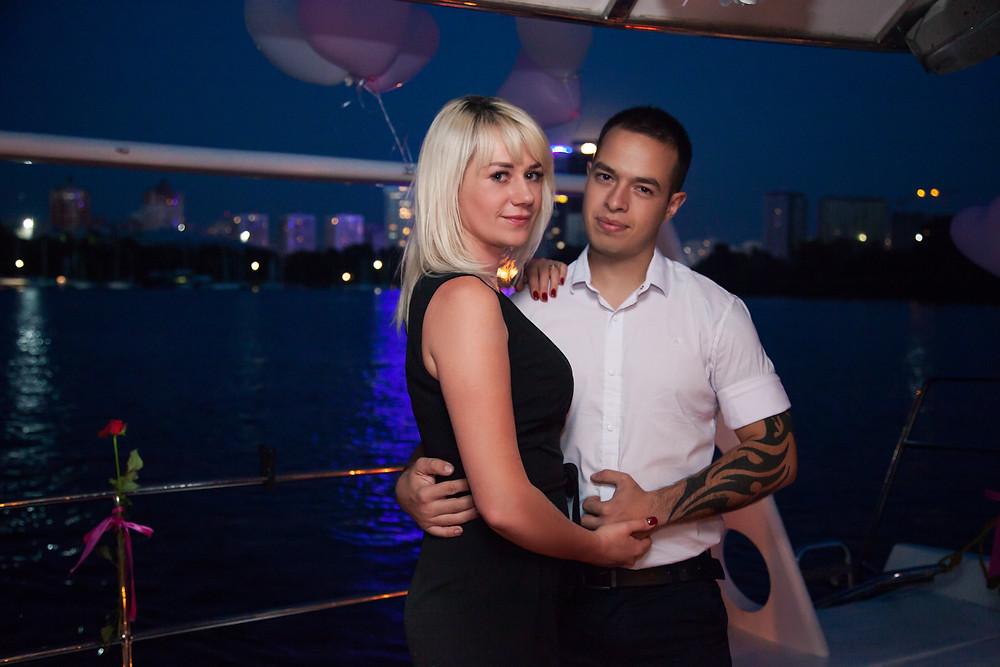 Вечер на яхте, Киев, сервис романтики Альтечо