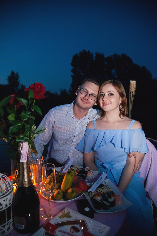 Романтический вечер для двоих на плоту, Киев
