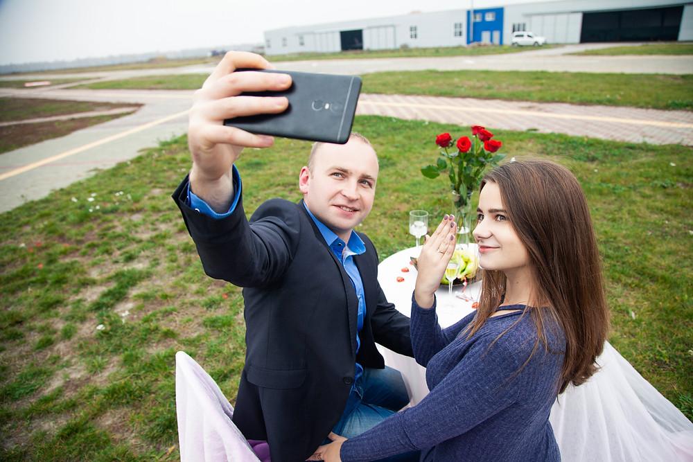 Нестандартная идея предложения руки и сердца, Киев