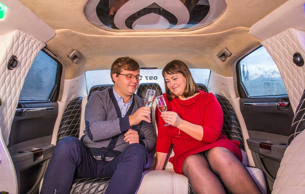 Лимузин для пары, сервис романтики Альтечо, Киев
