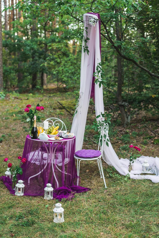 Романтика в лесу при свечах, Киев, Сервис романтики Альтечо