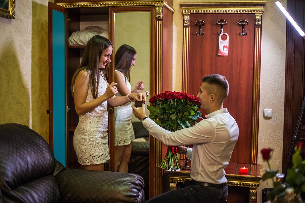 Предложение руки и сердца, сервис романтики Альтечо, Киев