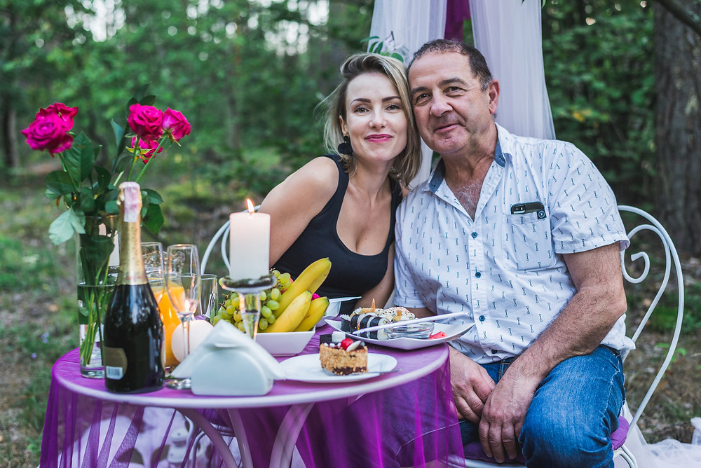 Романтический ужин для двоих в лесу, Киев, Сервис романтики Альтечо