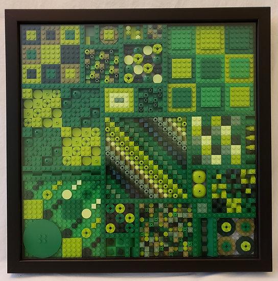 Large Mondichrome 2: Green