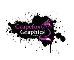 Grapefox Graphics Logo - Black and White