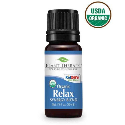 Plant Therapy Organic Relax Synergy Blend Undiluted Essential Oils 10mL