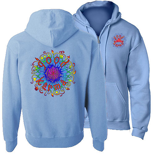GOOD KARMA FULL ZIP HOODED SWEATSHIRT