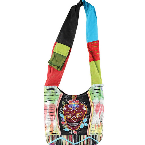 Thread Heads Razor Cut Sugar Skull Bag