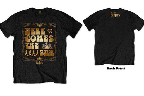 Beatles Here Comes The Sun Men's Black T-shirt