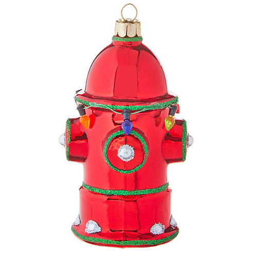 "4.5"" Glass Fire Hydrant Ornament"