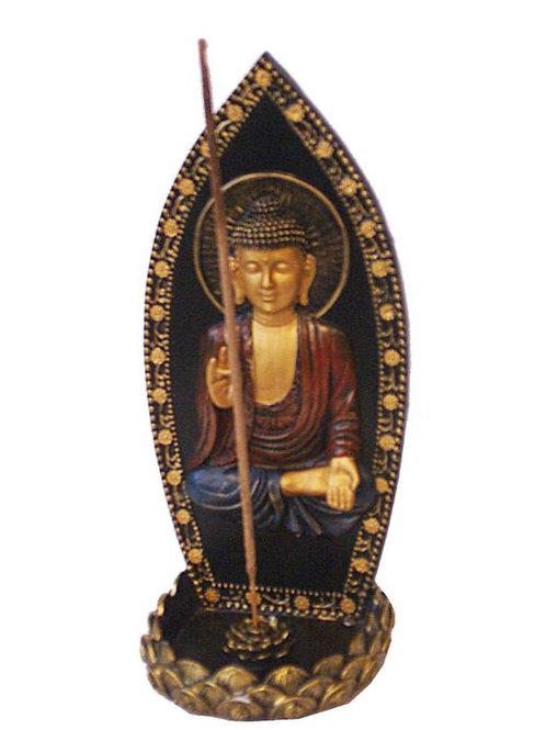 "8.5"" Upright Buddha Incense Burner"