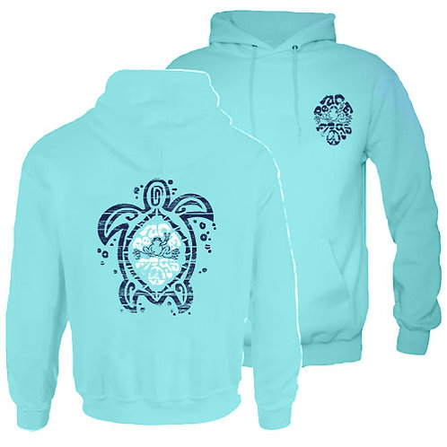 PEACE FROGS SEA TURTLE HOODED SWEATSHIRT