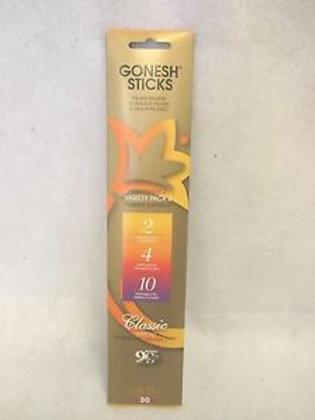 Gonesh Variety Pack Incense Sticks (30 piece pack)