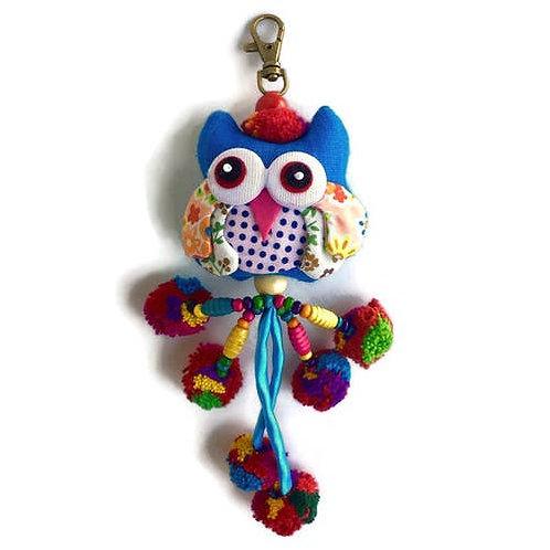 Owl w/ Pom Pom Zipper Pull