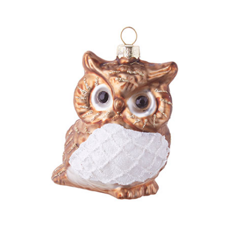 "3""GLASS OWL ORNAMENT"