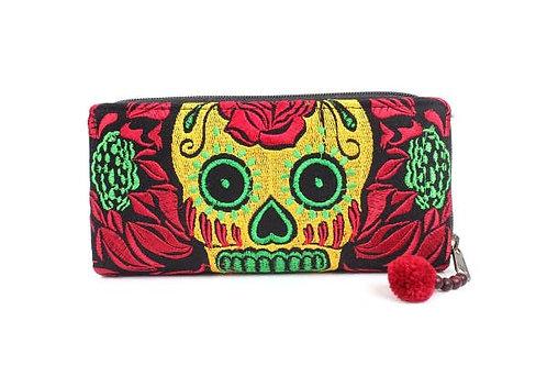 Culturas Sugar Skull Wallet Handmade