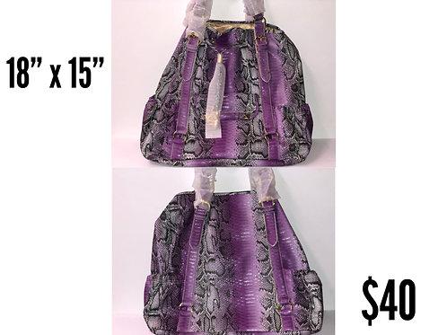 Purple Snakeskin IMAN Designer Purse