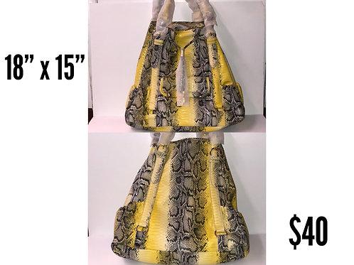 Yellow Snakeskin IMAN Designer Purse