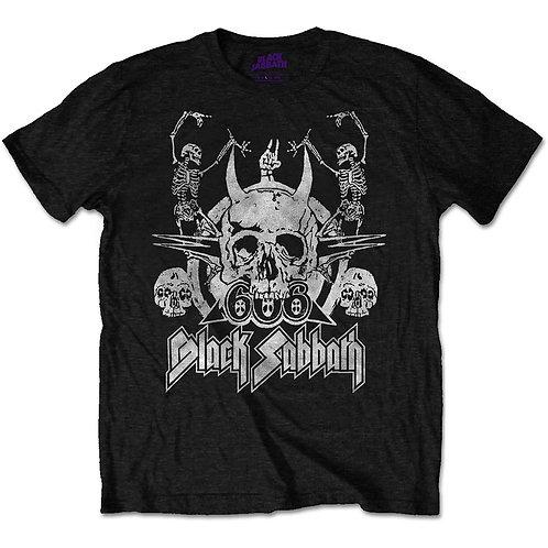 Black Sabath Dancing Skulls T-shirt