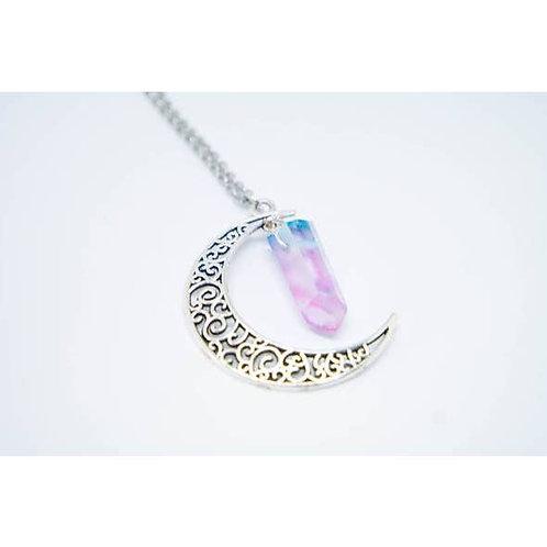 "Rosemarine Moon Necklace 18"" Chain"