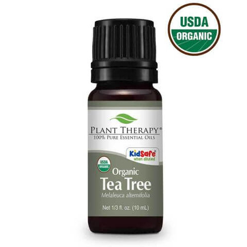 Plant Therapy Organic Tea Tree Essential Oil Undiluted 10m/L