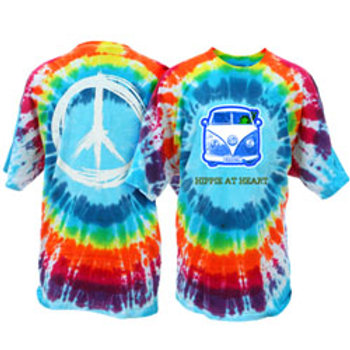 Hippie at Heart Peace Frog Tie Dye