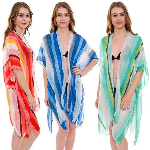 Bright Striped Kimono