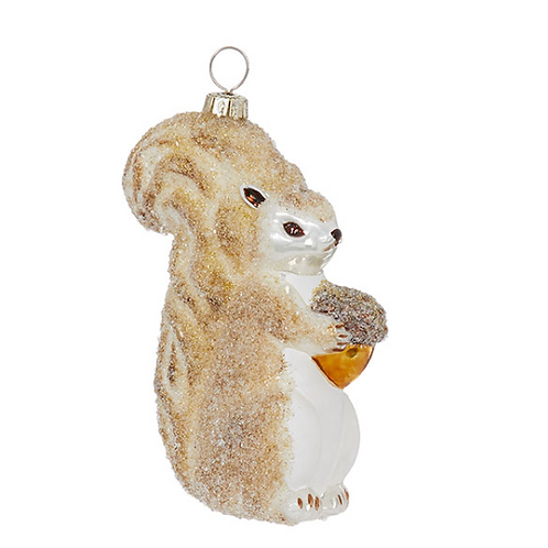 "4.5"" Glass Squirrel Ornament"