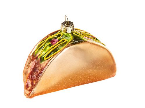 """4"""" Glass Taco Ornament"""