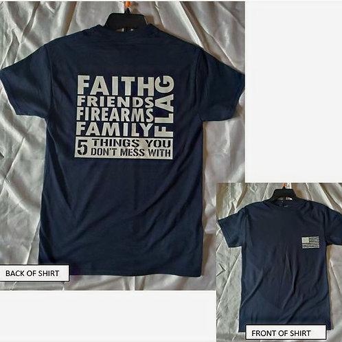 FiveF's Navy Blue T-Shirt