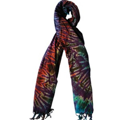 Tie Dye Scarf in Assorted Colors