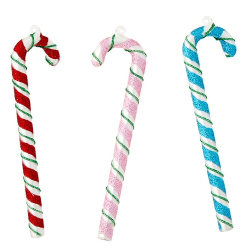 """5.5"""" Glass Candy Cane Ornament"""