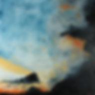 Coucher de soleil - Huile sur toile - 80x80 cm - 2015