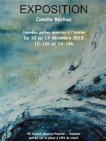 Décembre 2015 - Exposition à l'atelier de Camille BECHAZ à Venelles
